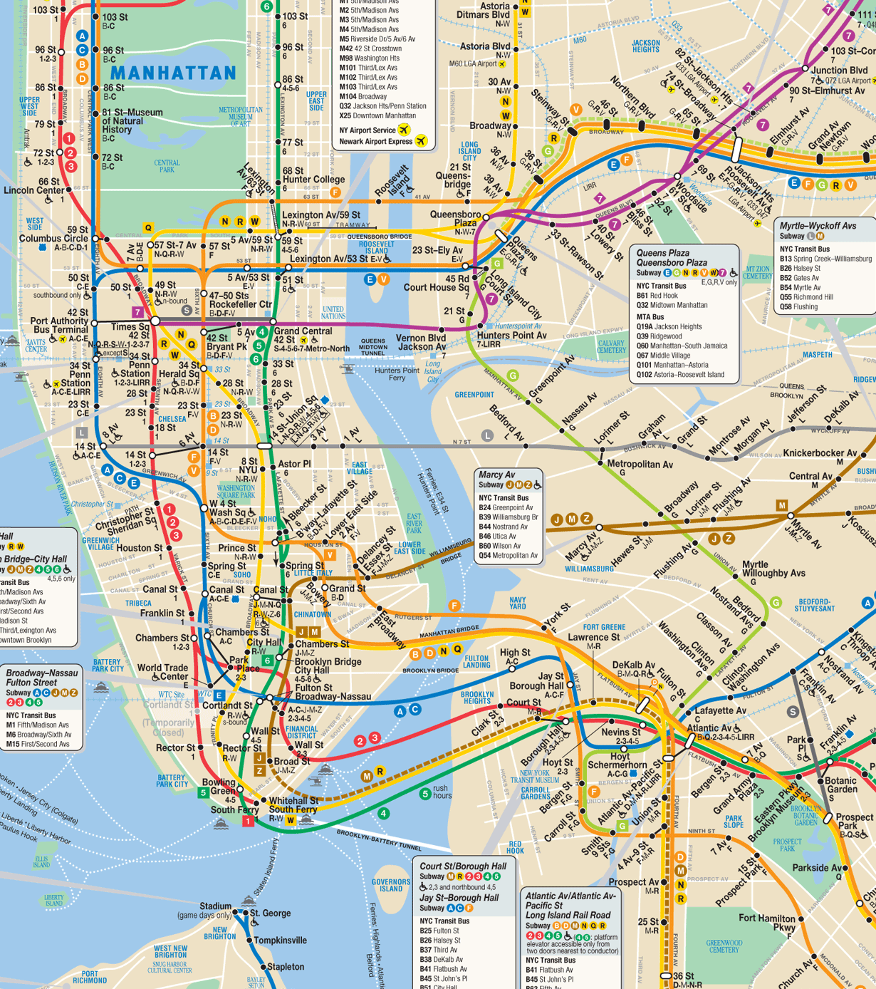 MTA Subway Map For IPhone  Nedwardorg - Nyc subway map queens ny